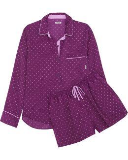 Printed Crepe De Chine Pajama Set