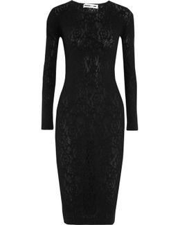 Pointelle-knit Midi Dress