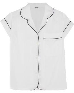 Seersucker Cotton Pajama Top