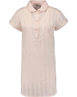 Shadow Striped Cotton Pajama Top