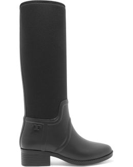 April Rubber And Neoprene Knee Boots