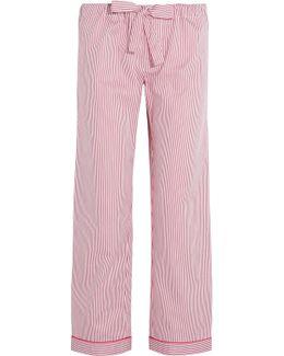 Verbier Striped Swiss Cotton Pajama Pants