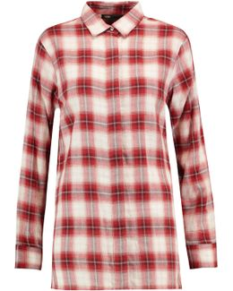 Checked Brushed-cotton Shirt