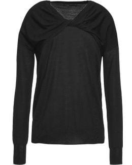 Twist-front Wool Sweater