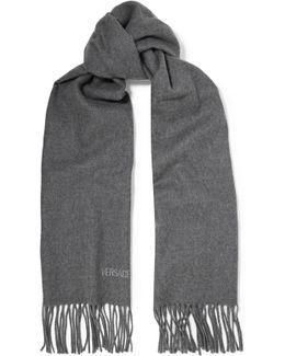 Fringed Wool-felt Scarf