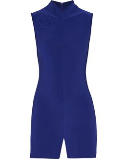 Suzie Q Wrap-effect Stretch-jersey Playsuit