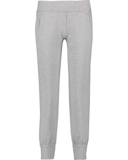Stretch-cotton Jersey Track Pants