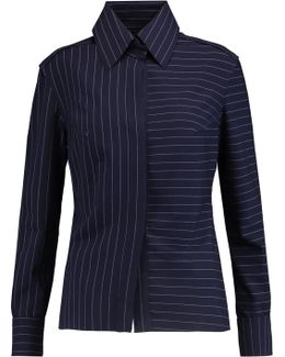 Frayed Striped Jersey Shirt