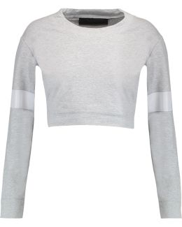 Cropped Stretch-cotton Sweatshirt