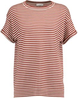 Striped Wool And Cashmere-blend Top