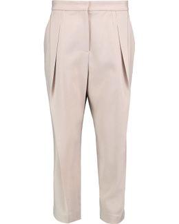Wool-blend Crepe Pants