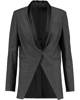 Embellished Wool And Cotton-blend Blazer