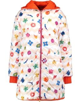 Hooded Printed Shell Down Coat