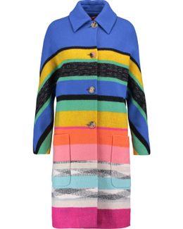 Metallic Striped Wool-blend Coat