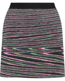 Intarsia Wool-blend Mini Skirt