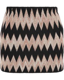 Wool-blend Crochet-knit Mini Skirt