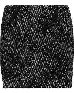 Crochet-knit Wool-blend Skirt