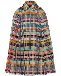 Wool-blend Bouclé Cape