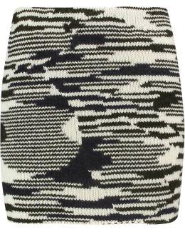 Intarsia-knit Wool-blend Mini Skirt