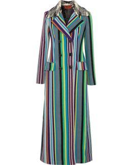 Striped Wool-blend Coat
