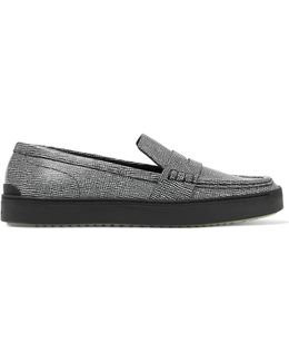 Colby Textured-leather Loafers