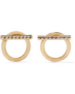 Leo Crystal-embellished Gold-tone Earrings