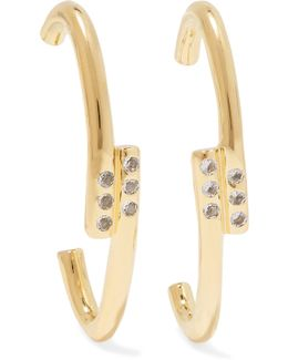 Leda Gold-plated Crystal Earrings