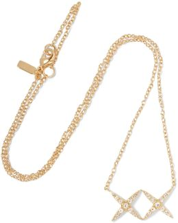 Vida Gold-tone Crystal Necklace