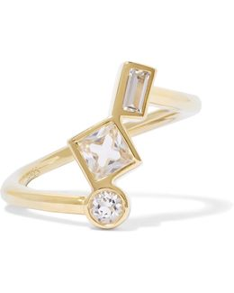 Roni Gold-tone Crystal Ring