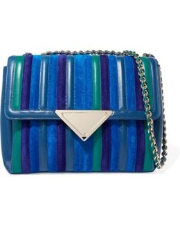 Elizabeth Paneled Leather And Suede Shoulder Bag