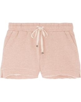 Frayed Cotton Shorts
