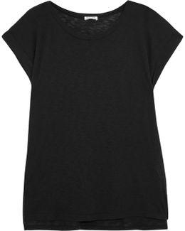 Slub Micro Modal And Supima Cotton-blend T-shirt