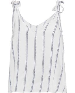 Striped Brushed-jersey Top