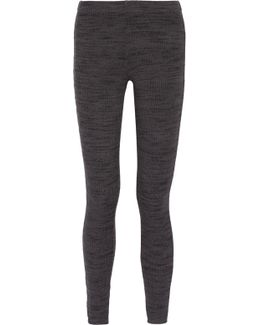 Ribbed Stretch-jersey Leggings