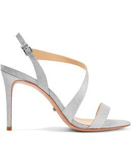 Aleria Glittered Leather Sandals