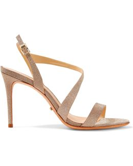 Aleria Glittered Leather Sandals