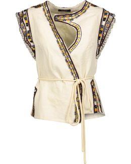 Blaine Embellished Wool-crepe Vest
