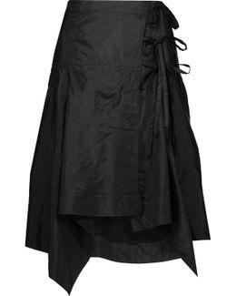 Kerena Asymmetric Shell Wrap Skirt