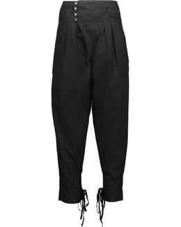 Odrys Asymmetric Cotton-broadcloth Tapered Pants