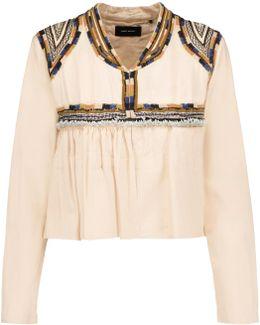 Sabriel Embellished Embroidered Cotton-twill Jacket