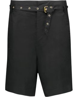 Neddy Belted Cotton Shorts