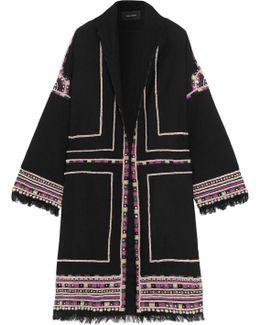 Brayton Embellished Wool-twill Coat
