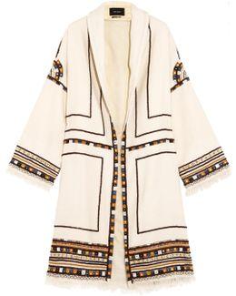 Brayton Embellished Wool Coat