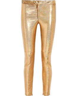 Dysart Metallic Stretch-leather Skinny Pants