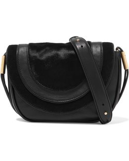 Calf Hair And Leather Shoulder Bag