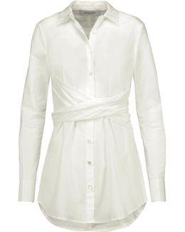 Gathered Cotton-poplin Shirt