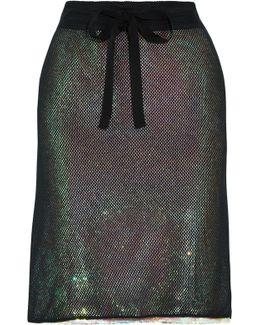 Cotton Mesh-paneled Sequinned Chiffon Skirt