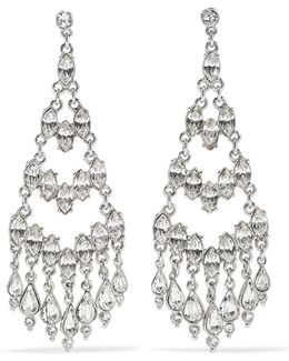Silver-plated Crystal Earrings