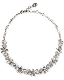 Silver-plated Crystal Choker