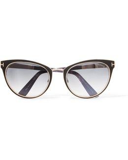 Cat-eye Acetate And Metal Sunglasses
